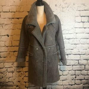Spring In soft tan fur lined winter coat